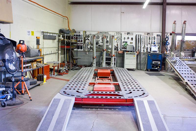 vehicle platform in auto shop